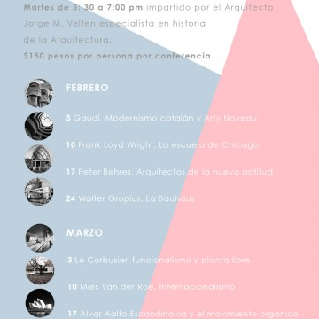 Ciclo de conferencias sobre arquitectos famosos del siglo XX. 2015