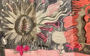 Libro Rosa, Libro de artista, 14 x 9 cm, 2017