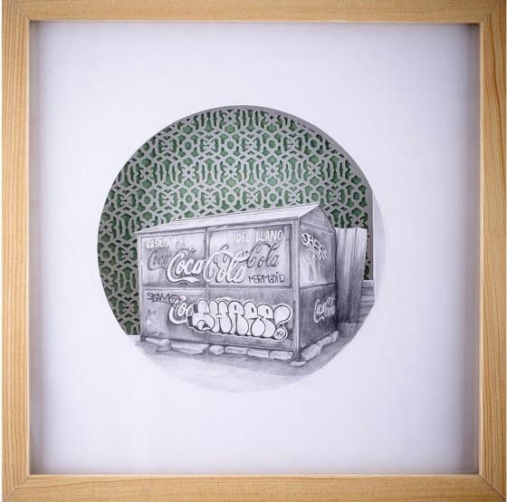 EL LLANO, Grafito sobre papel recortado, 30 x 30 cm.
