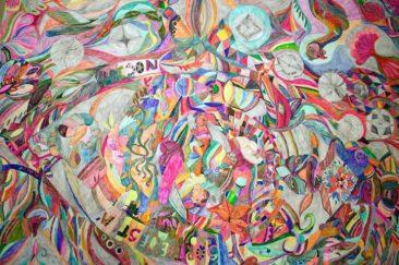 Códice de los animales, Lápices de color y plumones, 712x 135 cm, 2015