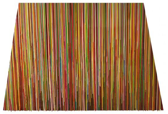 RC-07, pigmentos y resinas epóxicas sobre madera, 125 x 136 x 125 x 186 cm, 2015