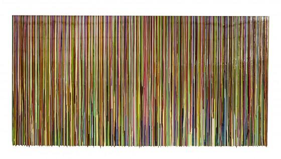 RC-06, pigmentos y resinas epóxicas sobre madera, 100 x 200 cm, 2015.
