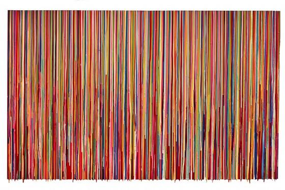 RC-08, pigmentos y resinas epóxicas sobre madera, 100 x 165 cm, 2015