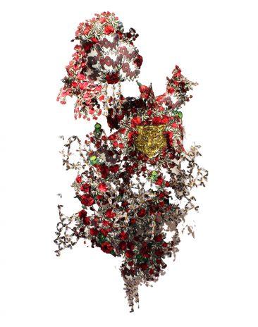 #IChanneledMyInnerMadonna, Bordado, lentejuela, 200 x 150 x 70 cm,  2017