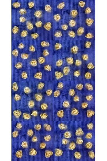 ROSAS MARINAS, Piezografía Montada en Acrílico por Emulsión, 240 x 120 cm.