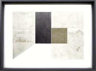 CUARTO BLANCO, Aguafuerte con collage de plomo y lino sobre papel Arches, 168 x 126 cm, Edición 12, 2016