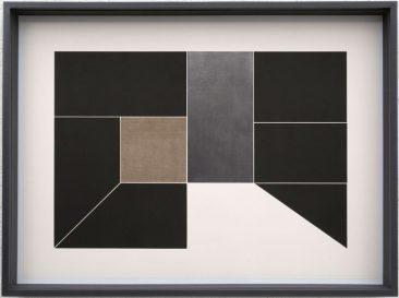 CUARTO NEGRO, Aguafuerte con collage de plomo y lino sobre papel Arches, 168 x 126 cm, Edición 12, 2017
