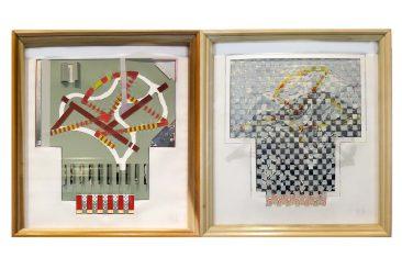 VARIACIONES SOBRE ÁRBOL, Mixta sobre papel, díptico  40 x 37 cm,