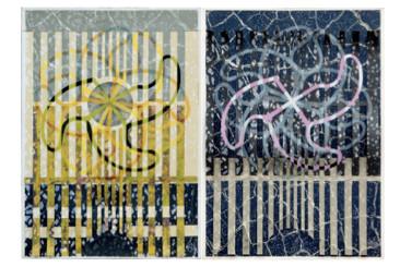 GAJOS, Serigrafía 5 tintas s/papel, díptico 70 x 100 cm.