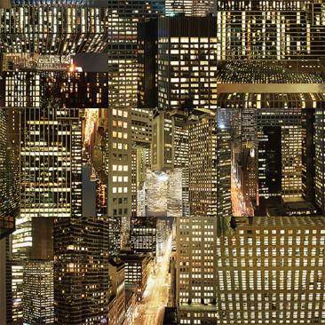 NUEVA YORK (Noche), Piezografía Montada en Acrílico por Emulsión, 240 x 400 cm, 2012-15, Edición: 3.
