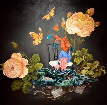 THE FLOOD: Óleo sobre lienzo. 198 x 198 cm. 2015
