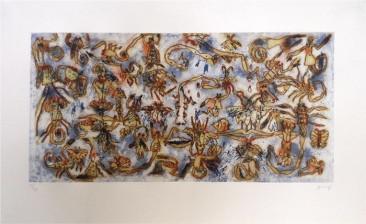 Escorpiones, Grabado en metal, 91 X 73 cm, 2014