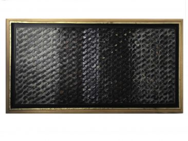 SERIE EN CADENA, Encáustica/tela, 62x 120 cm