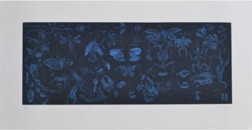 Sin Título,Grabado en metal, 57  X 106 cm, 2014