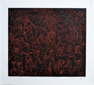 Sin Título, Grabado, 75  X 85 cm,2014