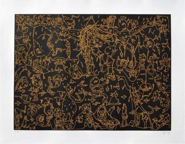 Sin Título, Grabado, 74  X 94.5 cm, 2015