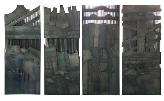Paneles de acero, 220 x 368 cm