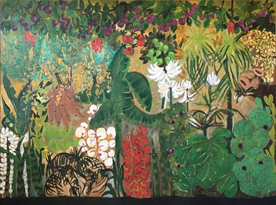 PARAÍSO INVERTIDO, Óleo sobre tela, 200 x 250 cm.