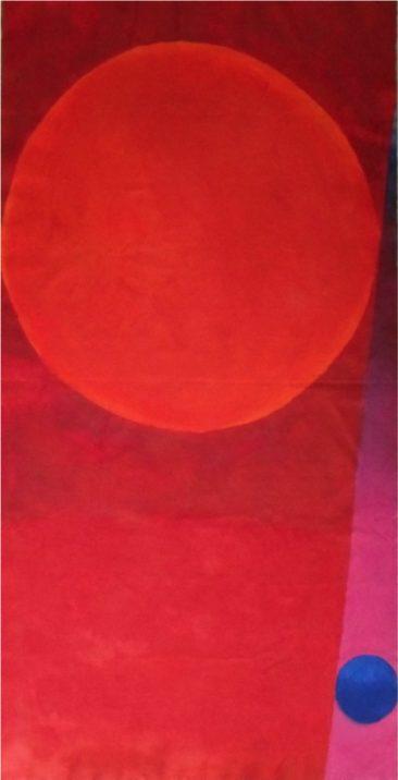 LOS TRABAJOS DE  SÍSIFO, Acrílico sobre tela,  203 x 103.5 cm, 2017