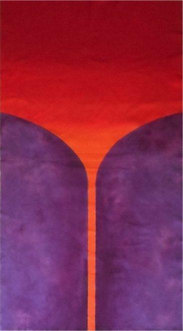ÁRBOL DE  PARAÍSO, Acrílico sobre tela,  201 x 110 cm, 2017