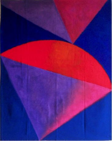 FORMAS FLOTANTES, Acrílico y vinílico sobre tela, 139.4 x 118 cm, 2012