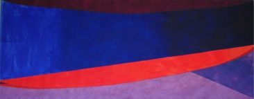 Tres barcos  Acrylic on canvas 117 x 300 cm 2017