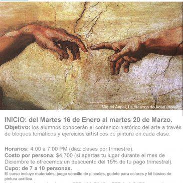 """Curso Trimestral """"De la Historia a la Pintura"""", 2018"""
