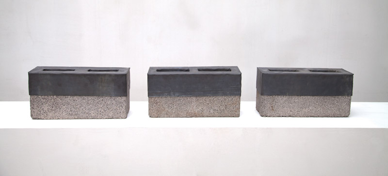 Cinder Blocks for my Father (Triptych), 2005