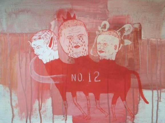 No.12,  Acrílico sobre papel,  46 x 61 cm